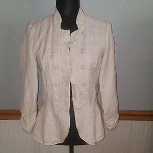 Light weight open front blazer with great details